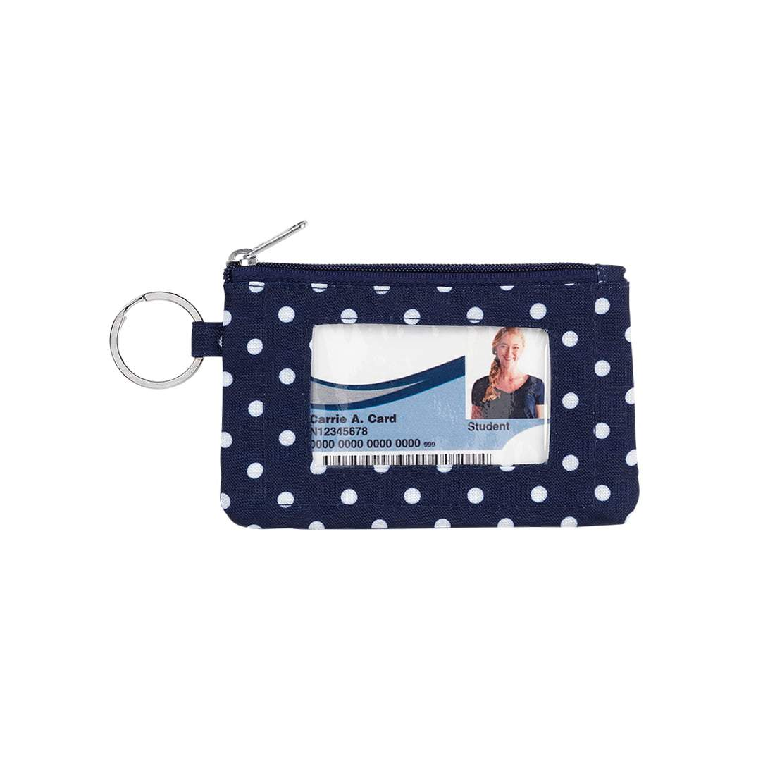 Navy Dot ID Case