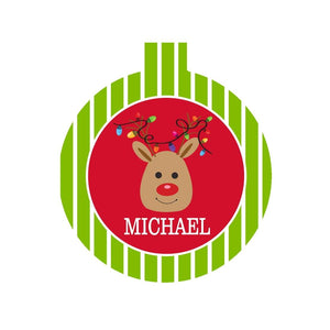 Kids' Reindeer Ornament - Crowned Boutique