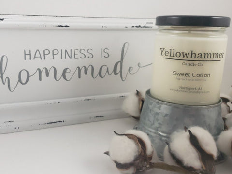 Yellowhammer Candle Co. Sweet Cotton - Crowned Boutique