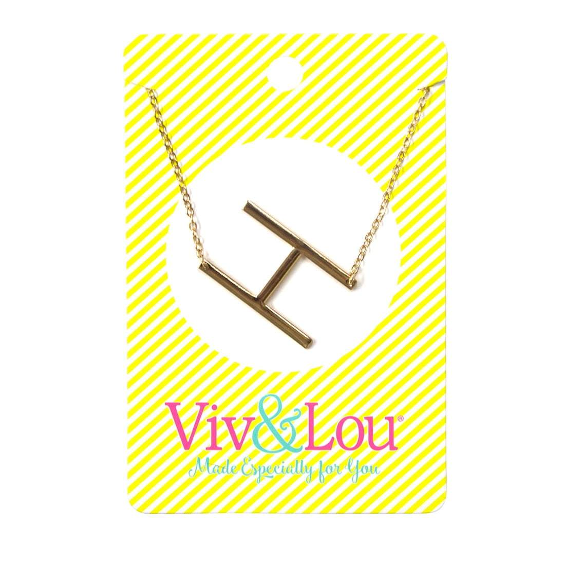 H Gold Initial Necklace