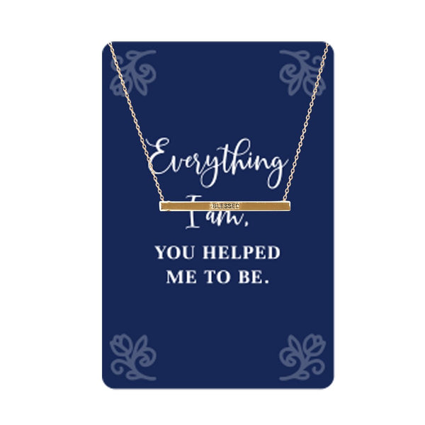 You Helped Me to Be Keepsake Necklace Card