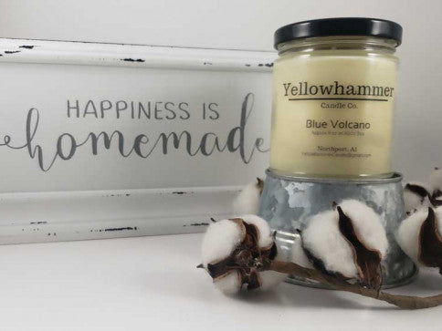 Yellowhammer Candle Co. Blue Volcano - Crowned Boutique