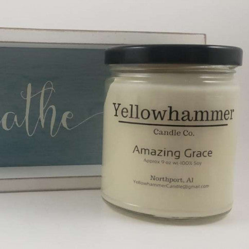 Yellowhammer Candle Co. Amazing Grace - Crowned Boutique