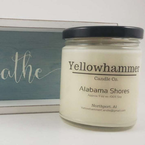 Yellowhammer Candle Co. Alabama Shores - Crowned Boutique