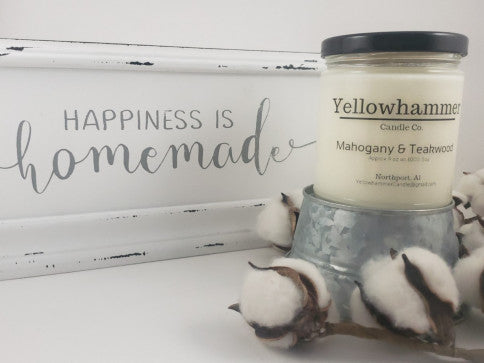 Yellowhammer Candle Co. Mahogany Teakwood - Crowned Boutique