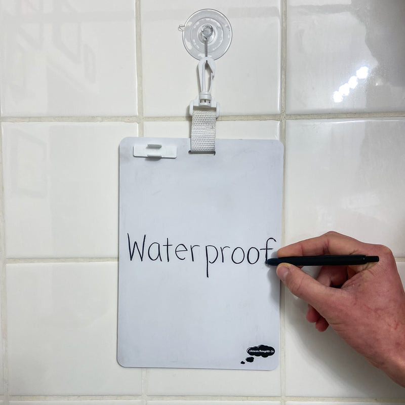 Shower whiteboard waterproof whiteboard for the shower