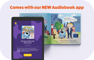 Octobo's Big City Adventure Storybook (Audiobook Deal)