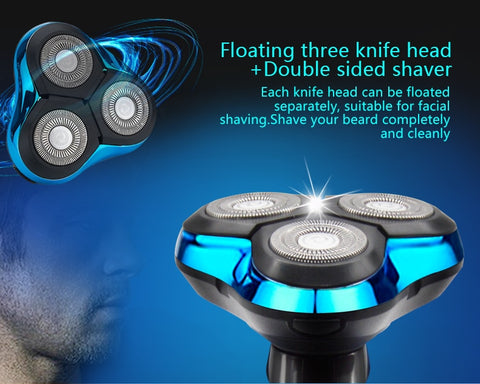 Image of Electric Shaver Electric Shaving Beard Machine Washable Rechargeable Razor - fashionniste