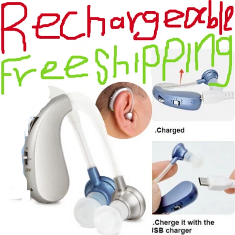 Image of Rechargeable Mini Digital Hearing Aid Sound Amplifiers lifetime warranty - fashionniste