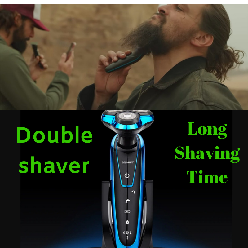 Electric Shaver Electric Shaving Beard Machine Washable Rechargeable Razor - fashionniste
