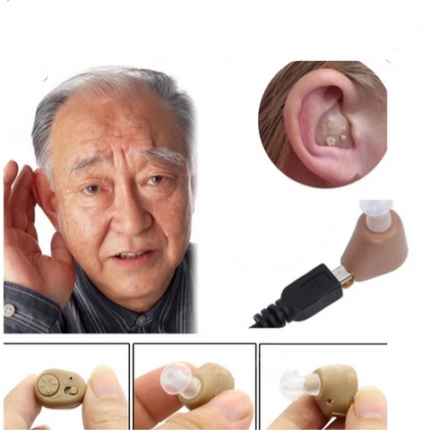 Adjustable Rechargeable mini invisible hearing aid- lifetime warranty - fashionniste