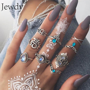40 Styles Party Women's Silver Rings Set - Amazing Women's Rings