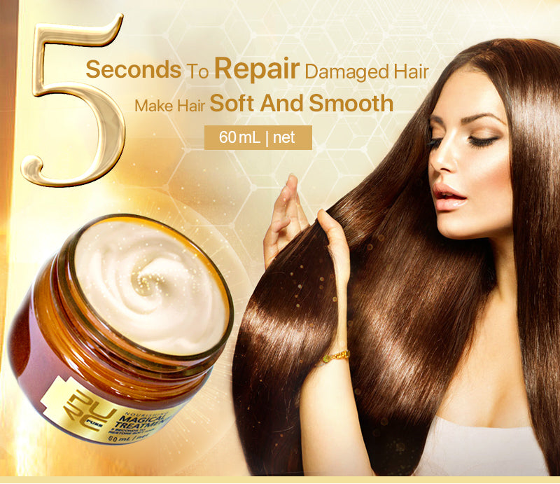 Magical treatment mask 5 seconds Repairs Damage restore soft hair 60ml for all hair types - fashionniste