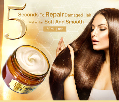 Image of Magical treatment mask 5 seconds Repairs Damage restore soft hair 60ml for all hair types - fashionniste