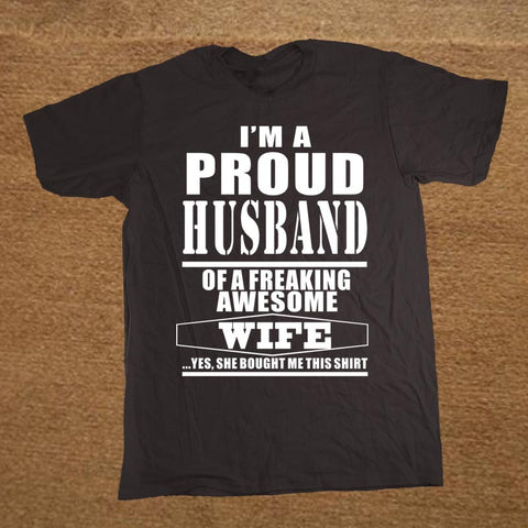 Image of New Proud Husband love T-shirt - fashionniste