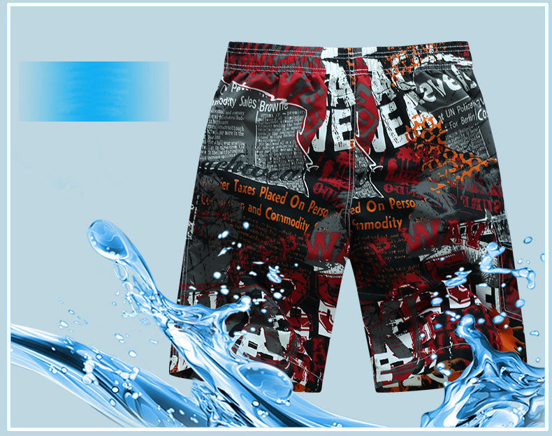 Men's Shorts Quick Dry Printing Board - fashionniste