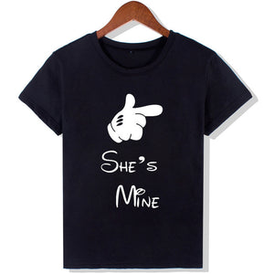 He's mine she's mine Unisex T shirts-Lovely