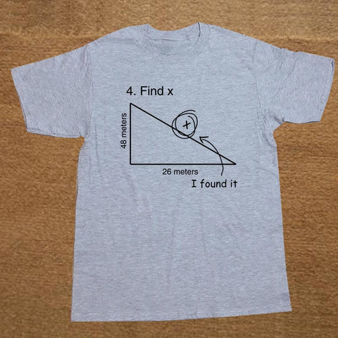 Find Variable X Math Teacher Funny T Shirt