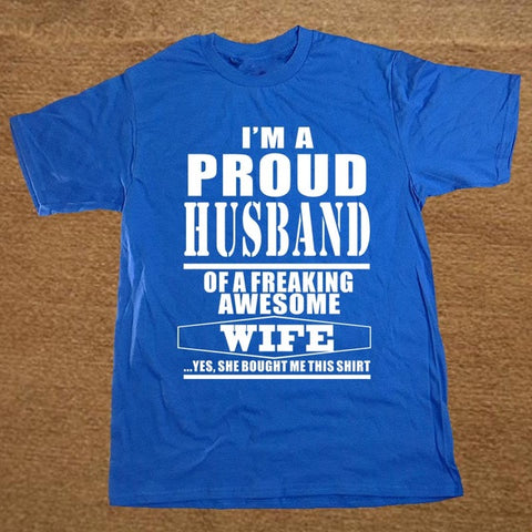 New Proud Husband love T-shirt