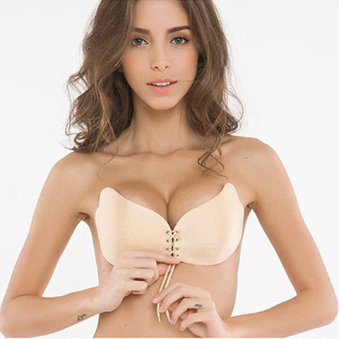 Backless, Seamless,Push Up Strapless Intimates Fly Bra