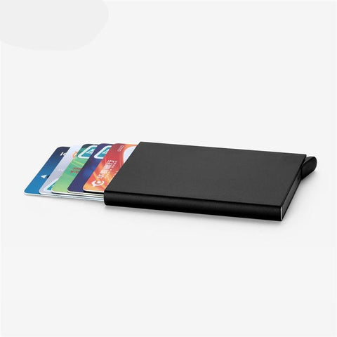 Credit Card Holder Stainless Steel Silver Aluminium - fashionniste