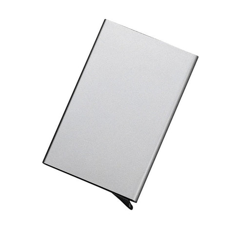 Credit Card Holder Stainless Steel Silver Aluminium