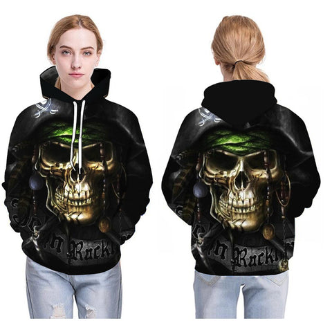 Image of Sweatshirts The pirates Skull Print Long sleeve - fashionniste