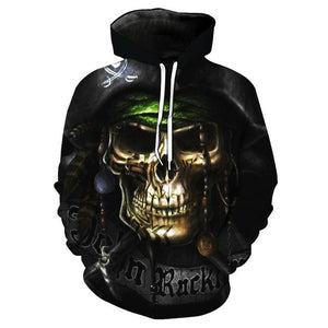 Sweatshirts The pirates Skull Print Long sleeve - fashionniste