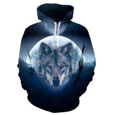 USA Flag Wolf Hooded Sweatshirts