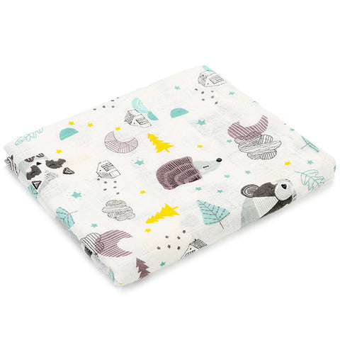 Image of Newborn Blankets Soft Muslin 100% Cotton