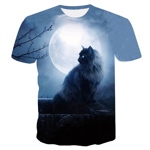 Image of two cat Short Sleeve T-shirt - fashionniste