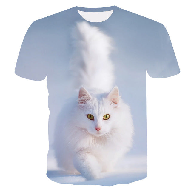 two cat Short Sleeve T-shirt - fashionniste