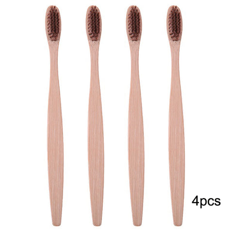 10PCS Environmentally Wood Rainbow Bamboo Toothbrush - fashionniste