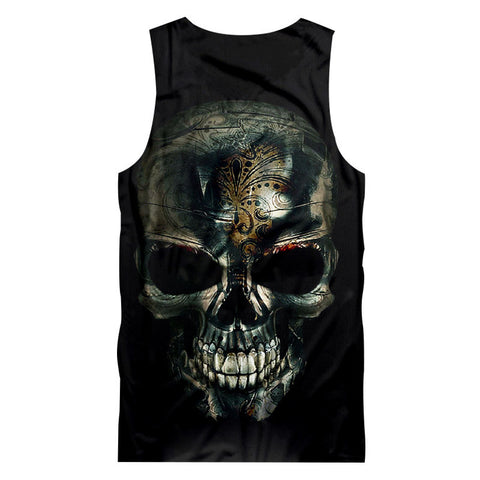 Unisex Tank Top Print Flame Lion - fashionniste