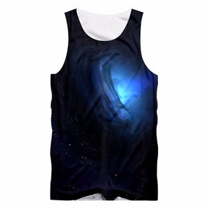 starry star printed O-Neck tank tops - fashionniste