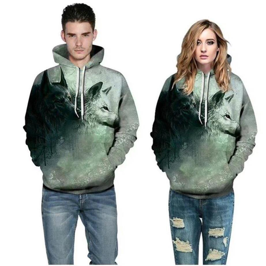 Sweatshirts Double Wolves Unisex Pullover - fashionniste