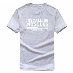 Installing Muscles Funny T-shirt fitness