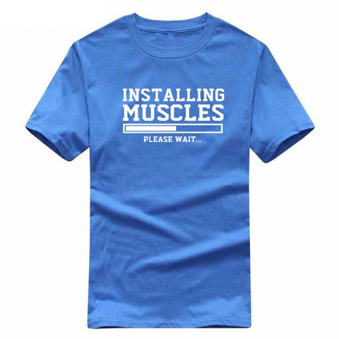 Installing Muscles Funny T-shirt fitness - fashionniste