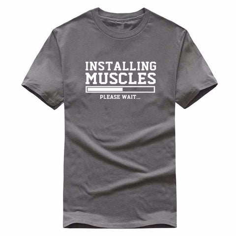 Image of Installing Muscles Funny T-shirt fitness