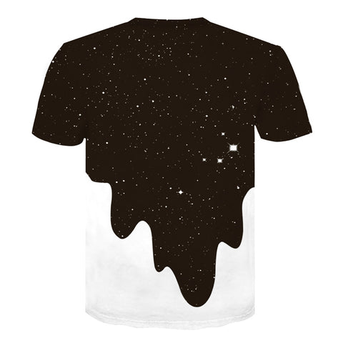 Image of Unisex Space Galaxy Milk Printed t shirts