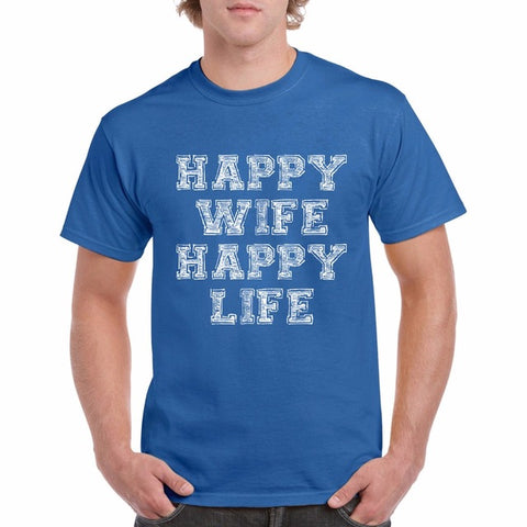 Happy Wife Happy Life Funny T Shirts