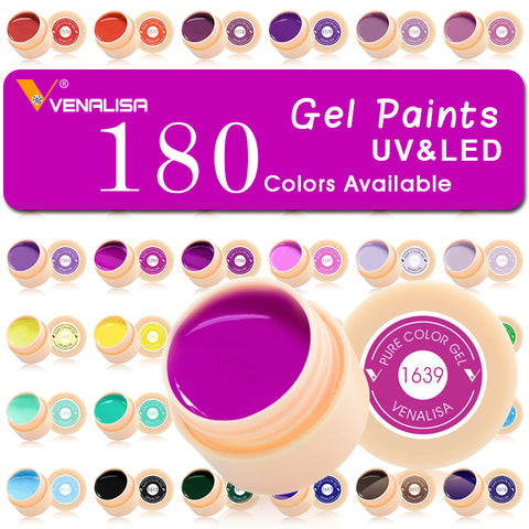 complete Nail Art Set 180 Pure Colors glitter powder Painting LED&UV