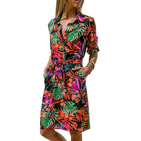 Image of Long Sleeve Shirt Summer Chiffon Beach Dresses - fashionniste