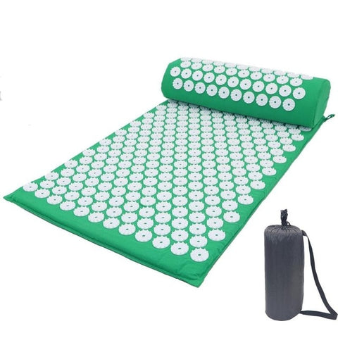 Image of Acupressure Mat + Pillow Set Back Body Massager - fashionniste