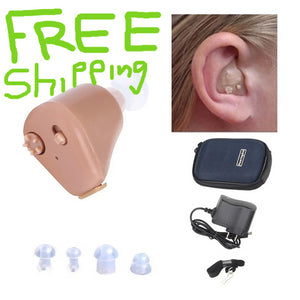 Adjustable Rechargeable mini invisible hearing aid- lifetime warranty