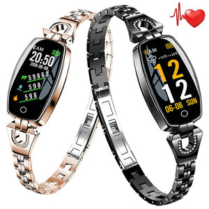 Women Luxury Smart Watch Heart Rate Monitor Waterproof Watches For Android iOS - fashionniste