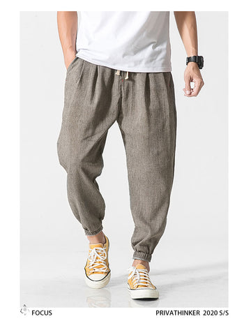 Casual Summer Men's Leg Pants Linen 100%  Cotton - fashionniste