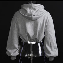 Load image into Gallery viewer, Crop Corset Hoodie