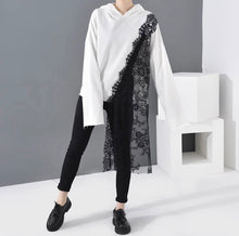 Load image into Gallery viewer, Lace Asymmetrical Hoodie