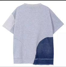 Load image into Gallery viewer, Denim Sweatshirt Top